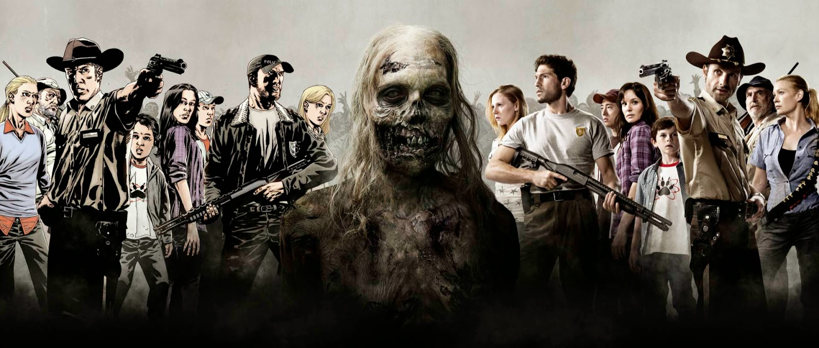 The Walkind Dead Comics vs TV La Tropa Friki