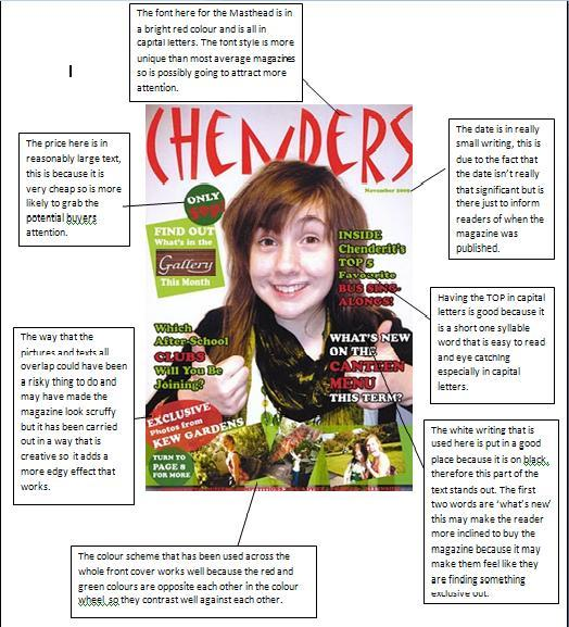media coursework magazine The editorial function of any publication – whether website, newsletter,  newspaper or magazine – has three main elements: writing which can be  divided into.