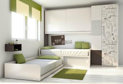 Dormitorio camas cruzadas - Muebles originales madrid ...