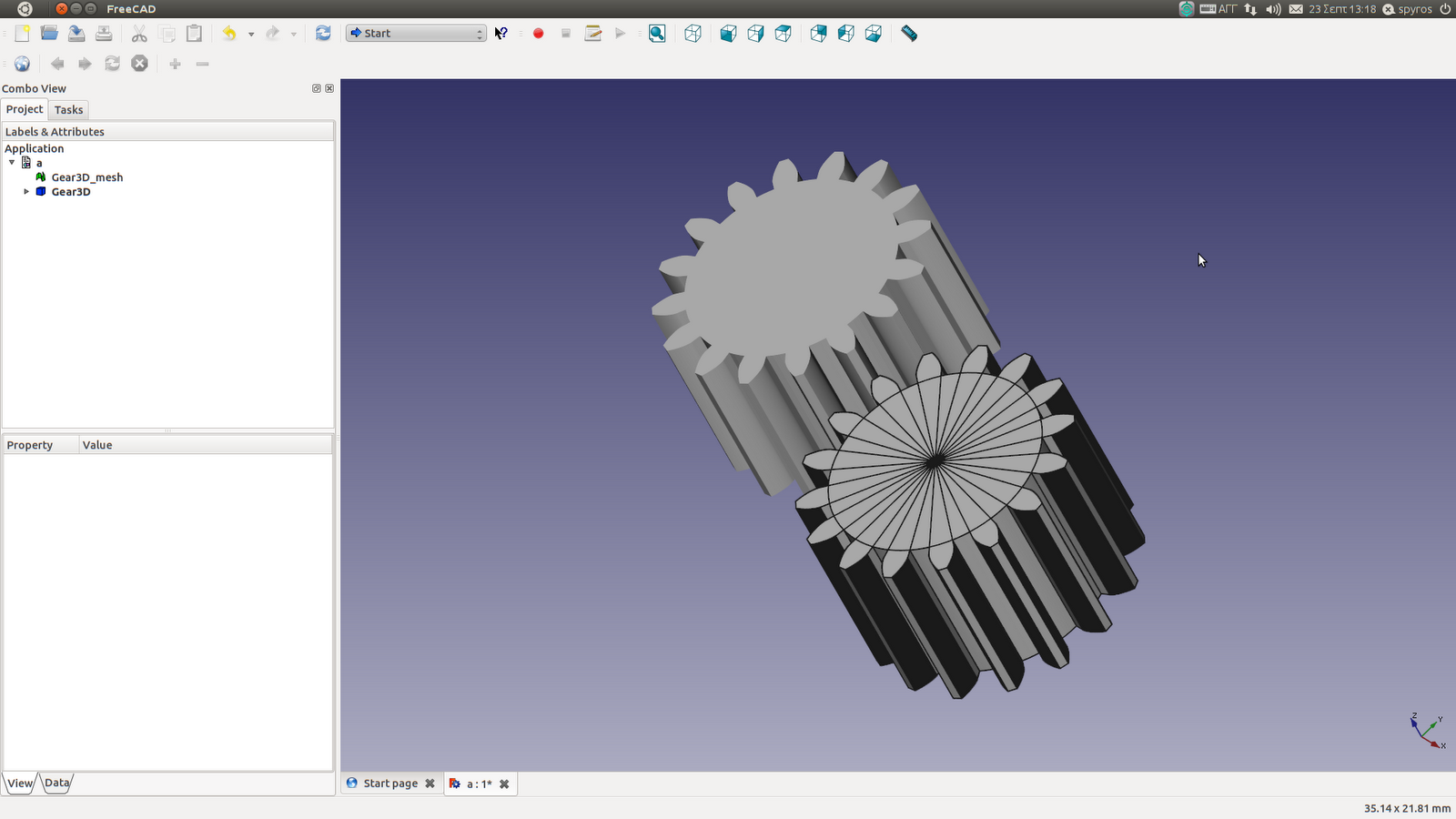 Linux Aided Design Gear Design With Linux
