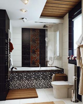 Kumpulan Gambar Desain Dinding Kamar Mandi Modern Minimalis