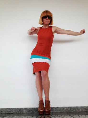 tennisdress orange