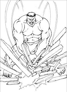 Desenhos do Hulk para imprimir e colorir