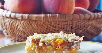 4 goodness bake!: Peach and Pecan Oat Crumble Bars