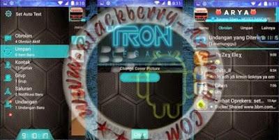 FREE BBM2 Mod DroidChat Tema Tron Legacy Neon Apk V2.8.0.21