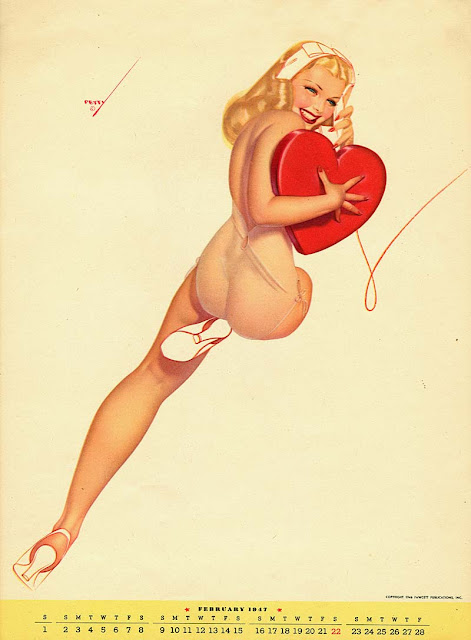 vintage valentines pin up girl