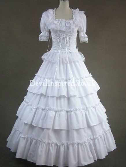Pure White Princess Gothic Victorian Dress