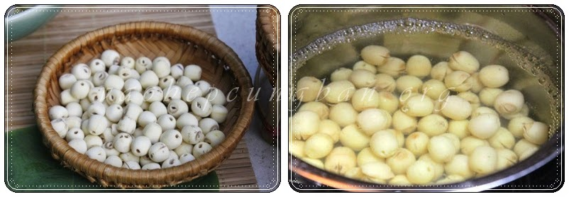 Cách nấu chè hạt sen với đỗ đen nhanh nhừ 2