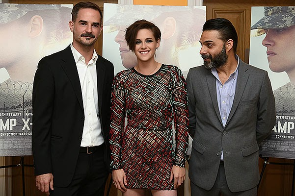The film's director, Peter Sattler and the key cast - Kristen Stewart and Peyman Moaadi