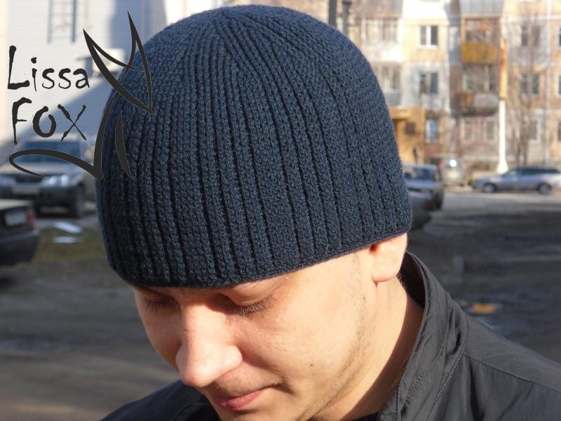 Связать шапки мужскую