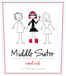 picture of Middle Sister Rebel Red wine front label