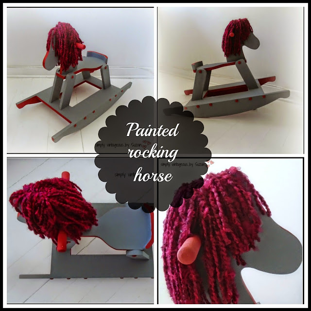 Vintage Rocking Horse - Painted