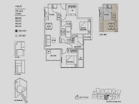 Hills TwoOne 3 Bedrooms Floor Plans