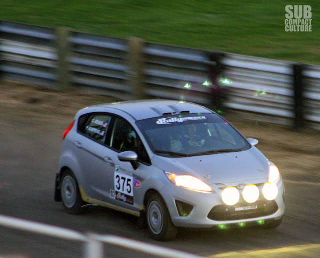 Silver Ford Fiesta Rally Car at 2013 Oregon Trail Rally