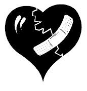 formato postal*. Lápices acuarelables y acuarela . corazones rotos resfriados internet
