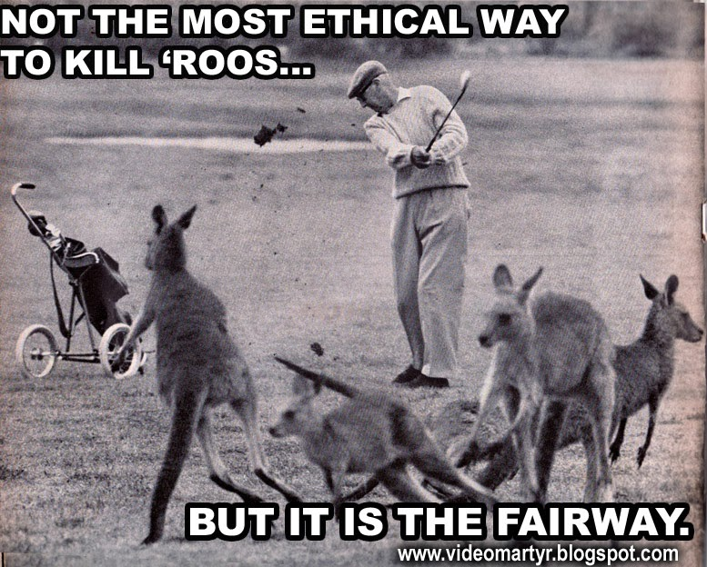 Funny Captioned Photo Golf, PETA, 1966,Life Magazine