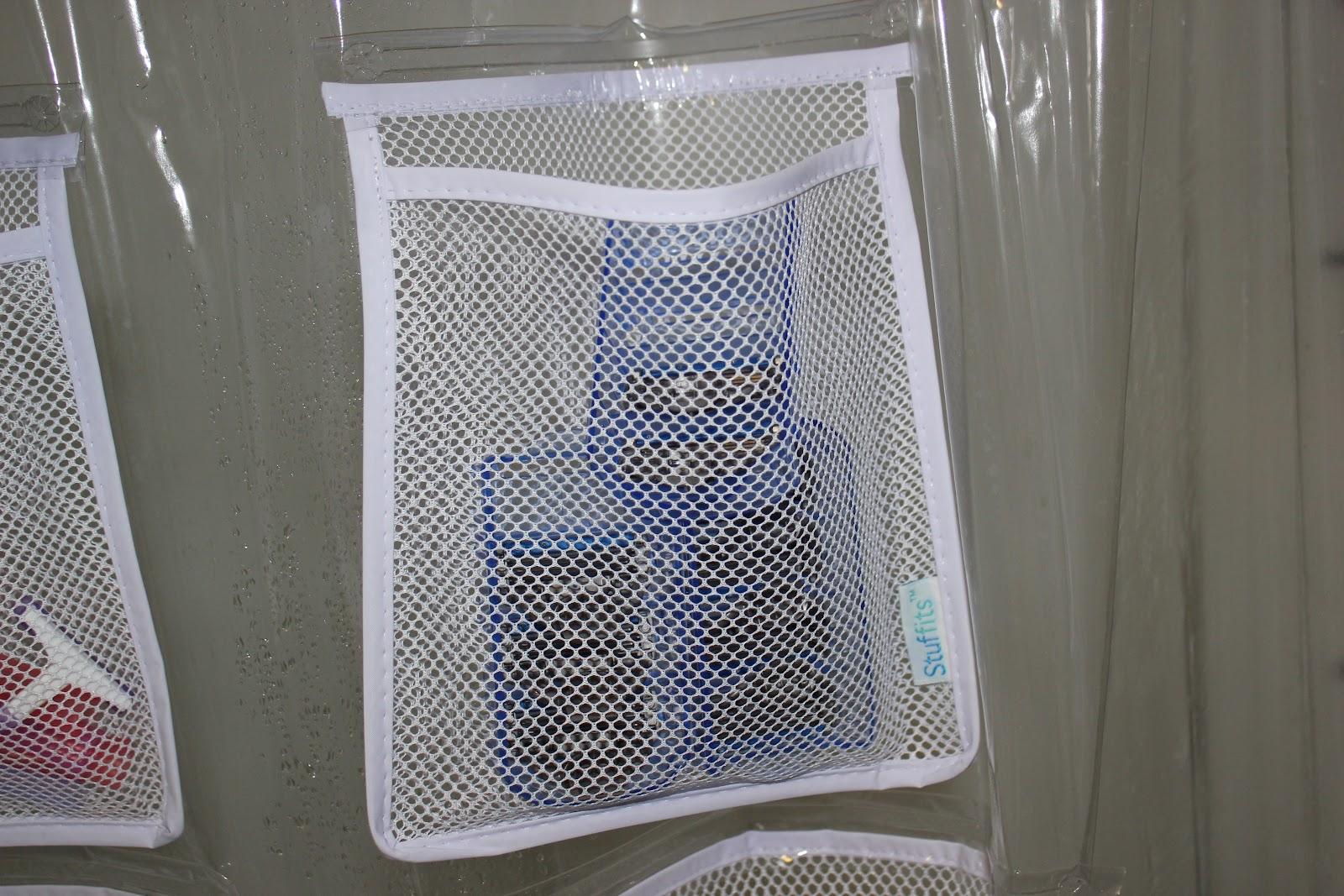 Shower Curtain Liner With Pockets Part   43: Amazon Mesh Pockets Vinyl Shower  Curtain Liner