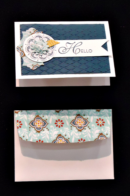 Hello Card with fully embossed background
