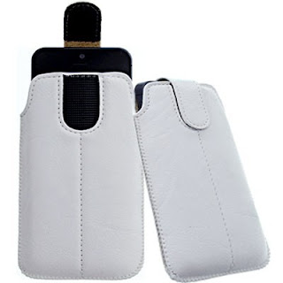 XL-WHITE SECURED POUCH CASE COVER HOLSTER POCKET WALLET fOr Asus Padfone