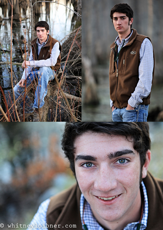 senior pictures, cypress trees, duck hunting