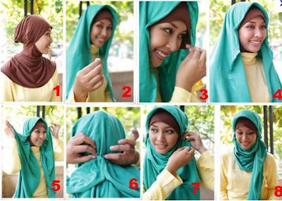 Tutorial Terkait Cara Memakai Jilbab Pashmina Goo Green Double: Jilbab ...
