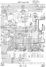 diagram on wiring: 1957 ford fairlane 500, 300, custom 300, and thunderbird  complete electrical wiring diagram  diagram on wiring