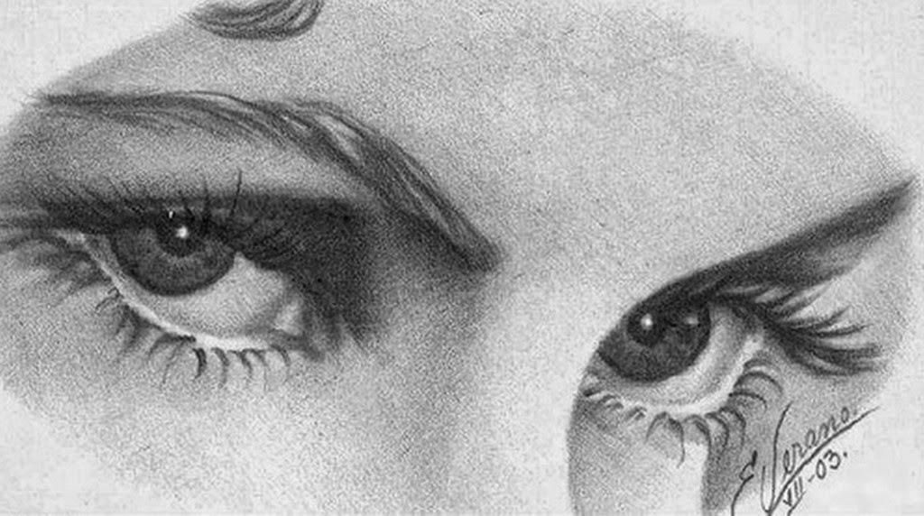 Cuadros Modernos Dibujos de Rostros Ojos