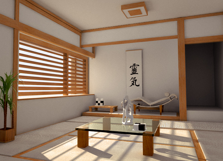 Japanese interior design interior home design for Japanese office interior design