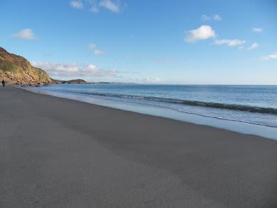 a long deserted beach