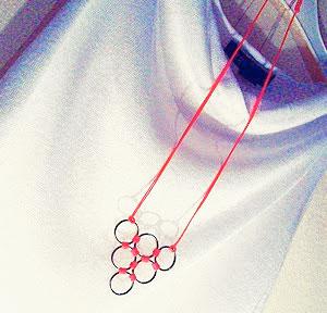 κολιέ με κορδόνι, κορδόνι neon, neon necklace, DIY neon, μενταγιόν neon, χειροποιήτο κολίε, λαιμός