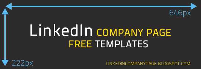 Linkedin Company Page Free Template 646x222 pixels