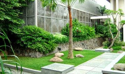 Gambar desain taman belakang rumah minimalis