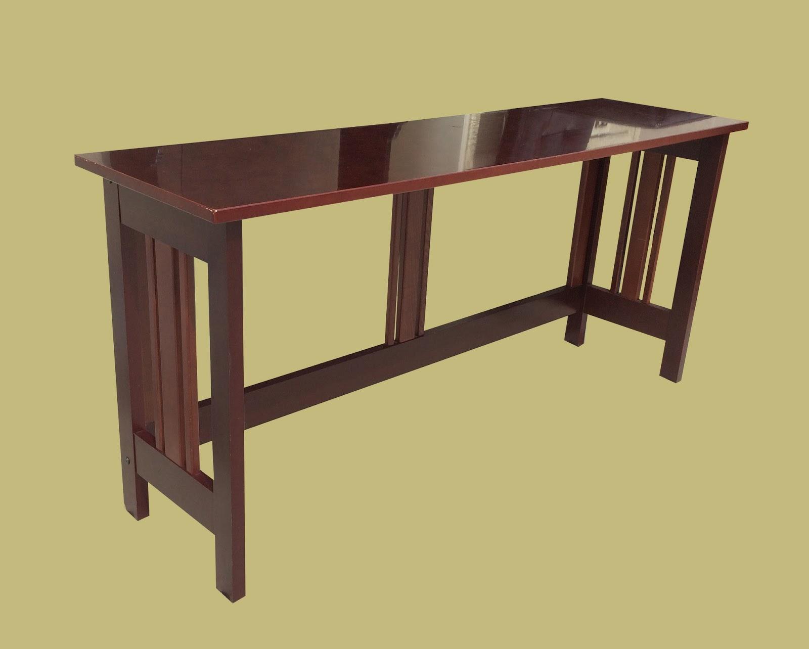 Uhuru furniture collectibles espresso color narrow for 65 sofa table