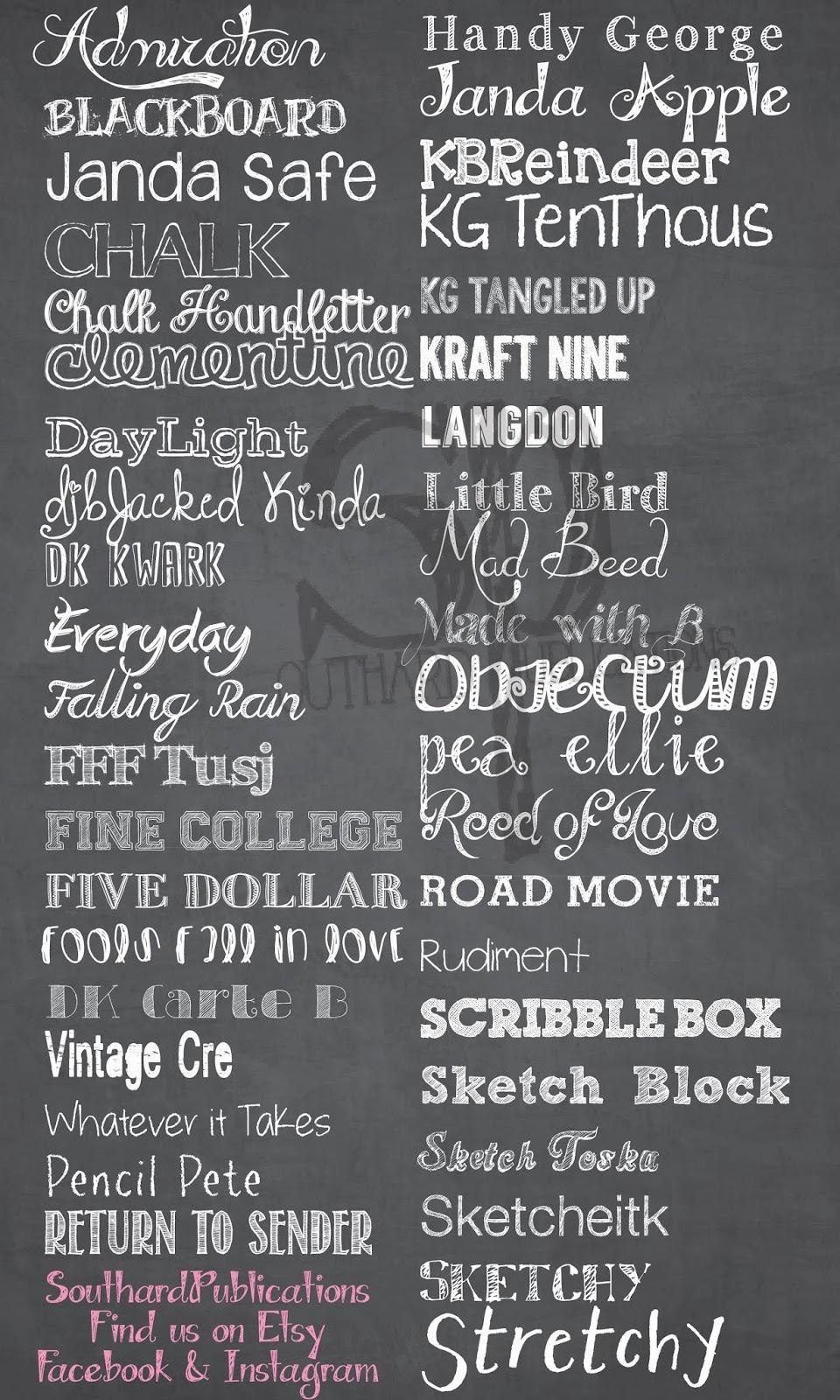 Southard belle free chalkboard fonts Chalkboard typography