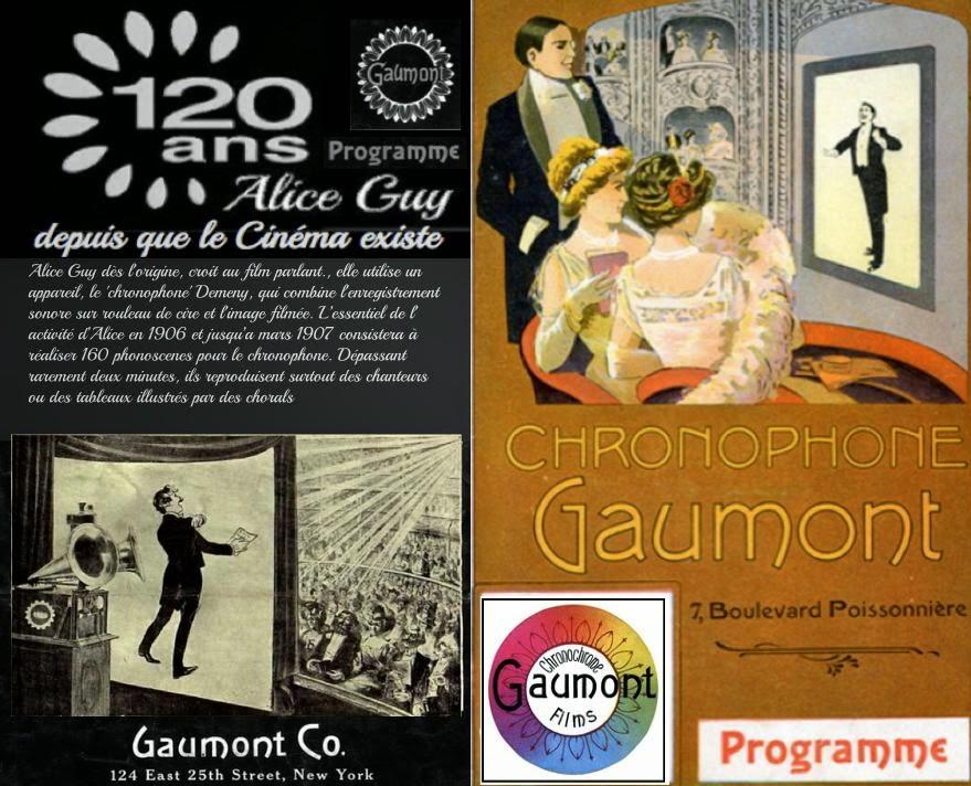 Gaumont 120 ans; Alice Guy depuis que le cinéma existe XP 104-Paris.