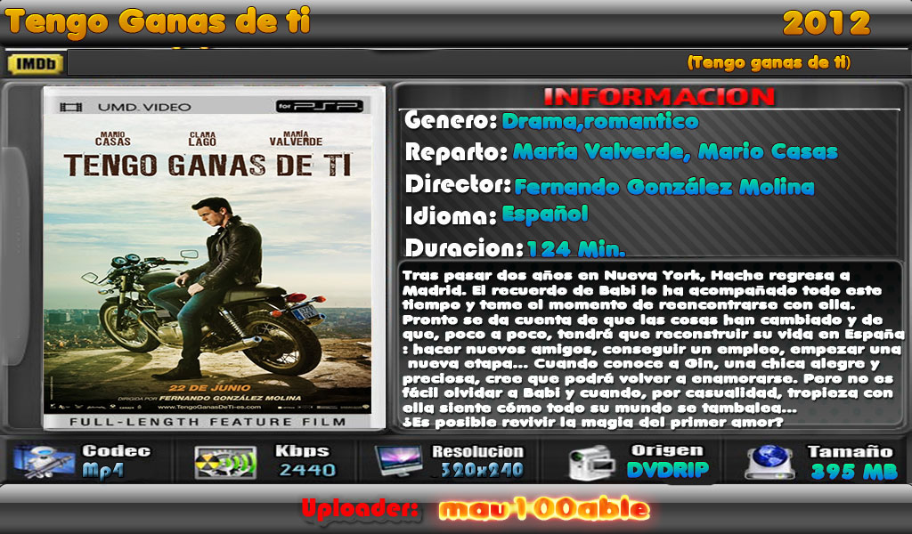 Tengo Ganas de Ti [2012][1 Link][iPod,Psp,Android] Tengo-ganas-de-ti-mau100able