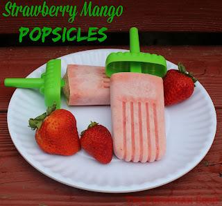 strawberry, mango, fruit, fruit pops, popsicles