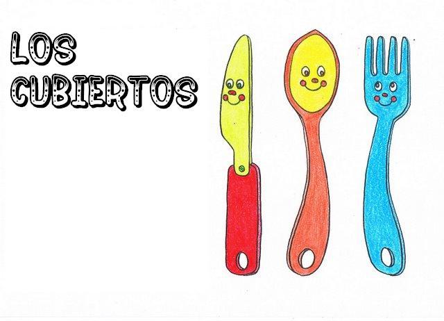 Menta m s chocolate recursos y actividades para for Tenedor y cuchillo en la mesa