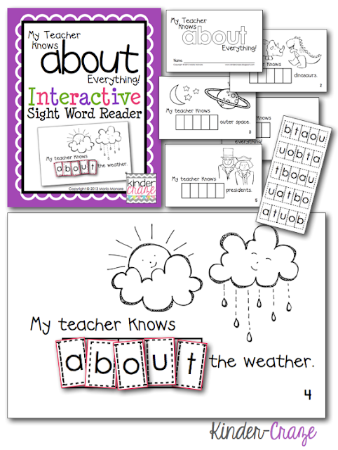 "FREE emergent reader to work on sight word ""about"""