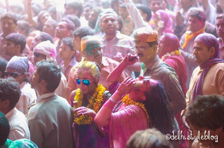 Holi at Banke Bihari Temple 9