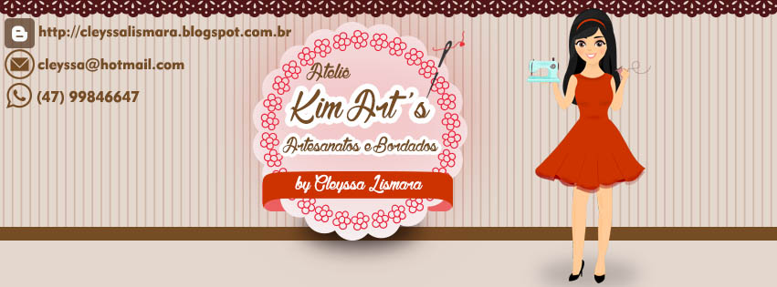 Kim Art's Artesanatos e Bordados  _  By Cleyssa Lismara.