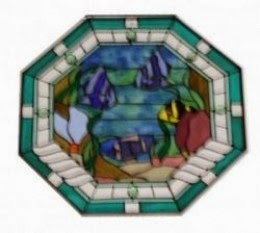 Stained Glass Transom Window octagon