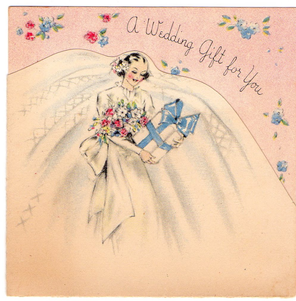Greeting For Wedding Gift : Vintage Cottage Home: A Vintage Wedding Gift Card for Pink Saturday!