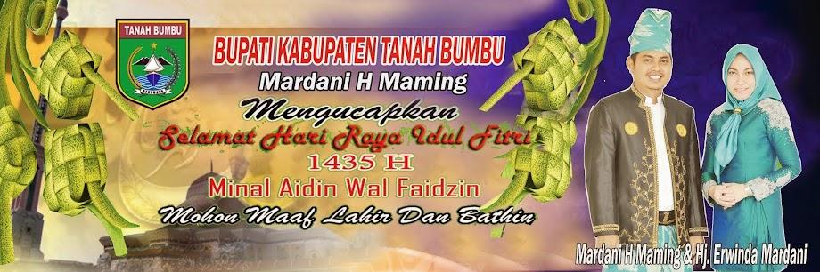 Keluarga Besar Mardani H Maming Mengucapkan Selamat Hari Raya Idul Fitri 1435 H