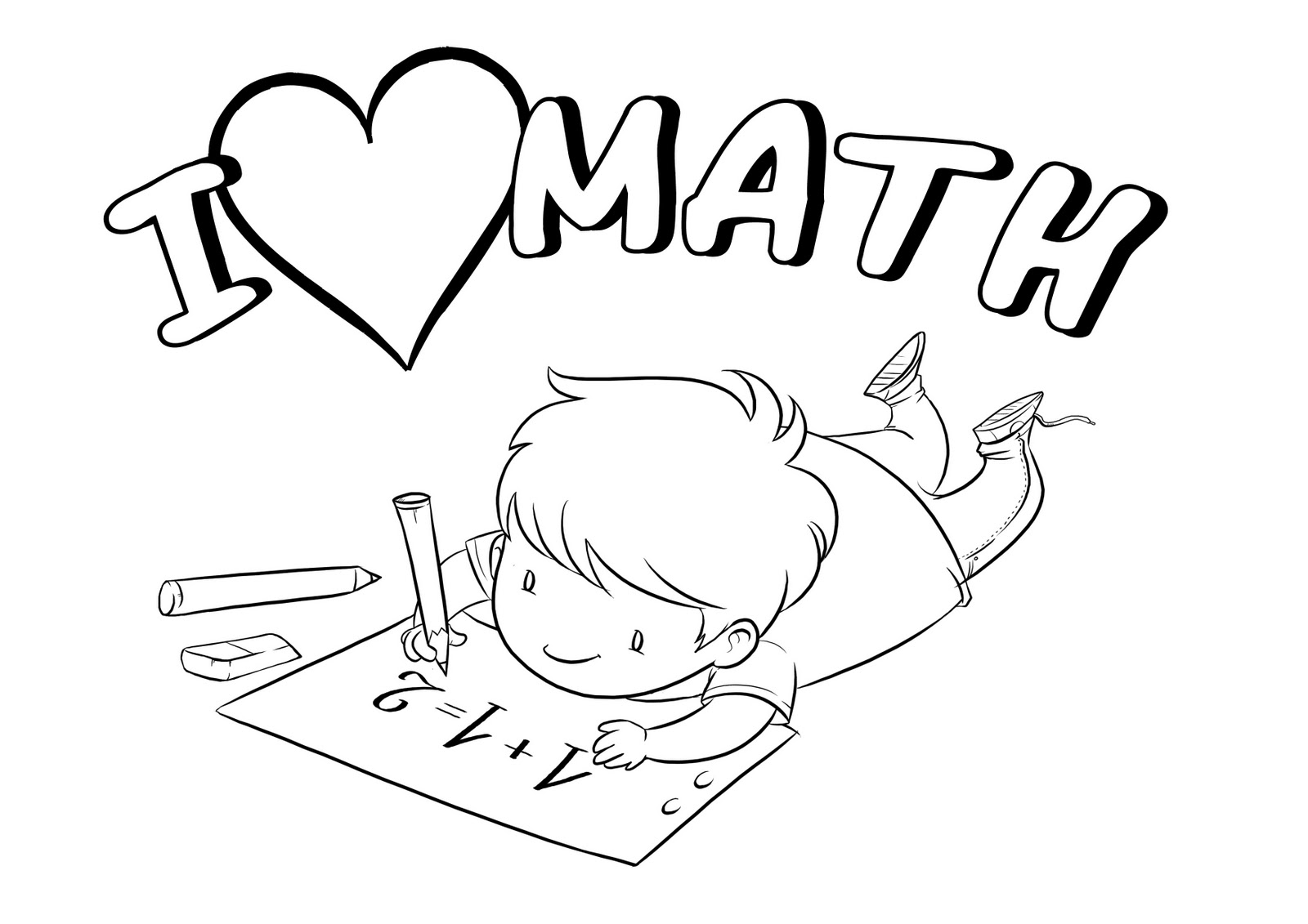 Coloring Pages Math : Math coloring page binder cover printable pages