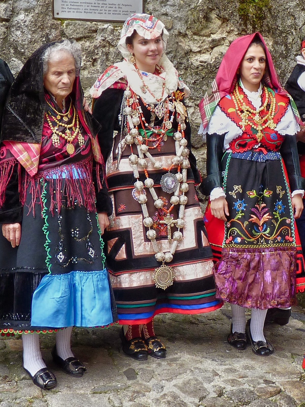 Local Style Traditional Wedding Costume And Headdress Of
