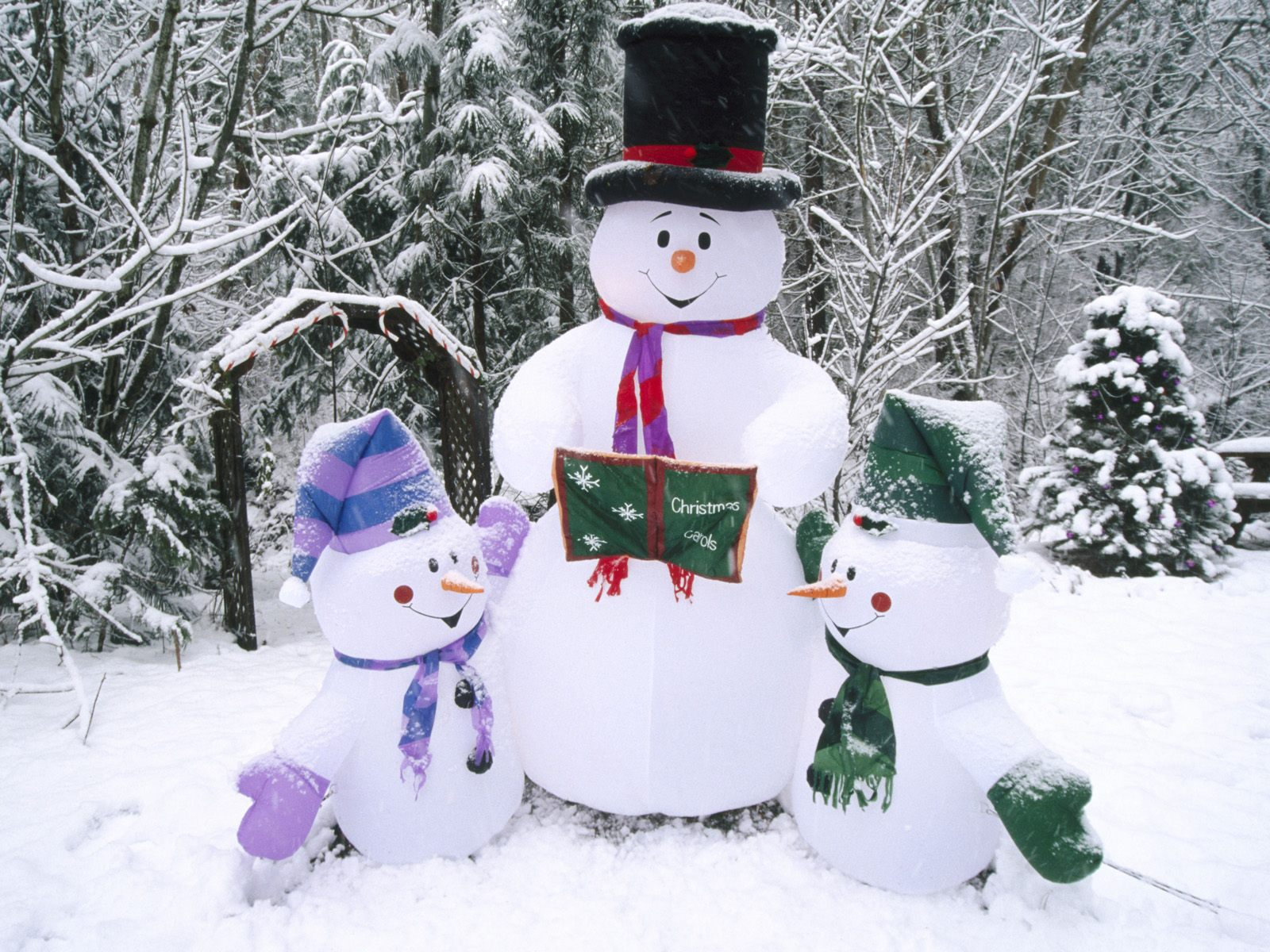 snowman family wallpaper -#main