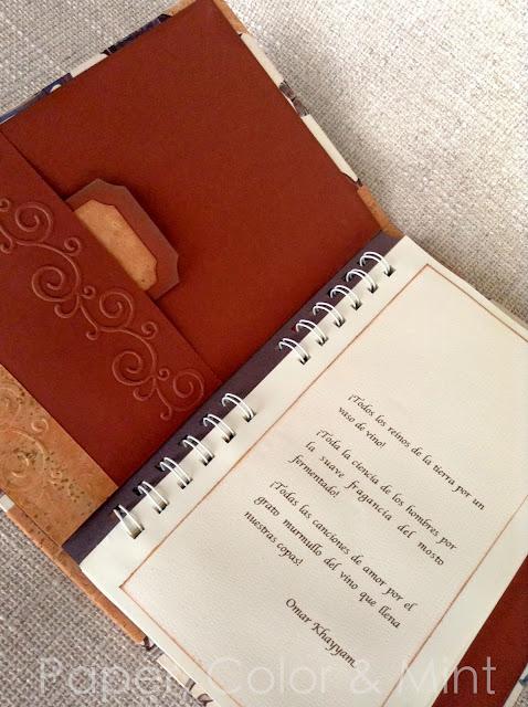 Encuadernación Libro de vinos 4