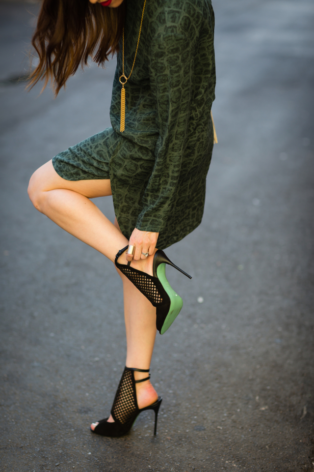 Chloe Jade Green black sandal heels on M Loves M @marmar