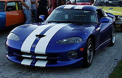Blue color Dodge Viper Wallpaper